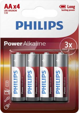 PILAS PHILIPS ALCALINA POWER AA 1.5 V PACK 4U 1