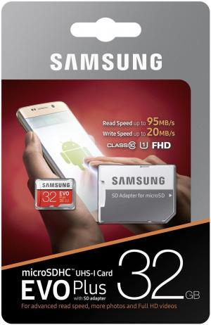 MEMORIA MICRO SD 32GB SAMSUNG EVO+ CLASE 10 1