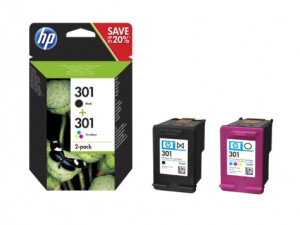 CARTUCHO HP 301  PACK 2   NEGRO/COLOR 1