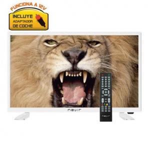 "TELEVISION 24"" NEVIR NVR-7418 FHD HDMI USB 12V BLANCO 1"