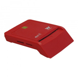LECTOR TARJETA CHIP DNIE USB WOXTER ROJO TR3.0 1