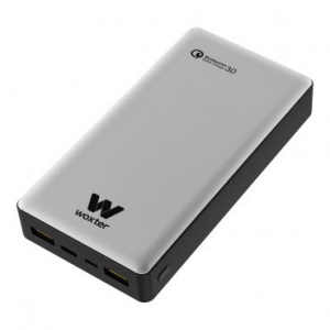 CARGADOR USB POWER BANK WOXTER QC 20500 SILVER 1