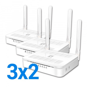 ROUTER WIFI LEVEL ONE AC1200 4P. 2ANT 3X2 PROMO 1