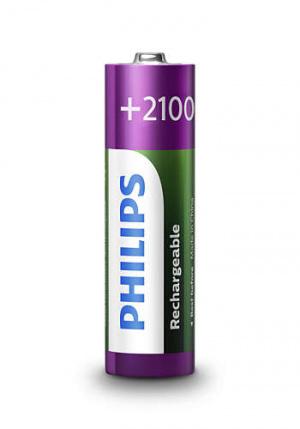 PILAS PHILIPS RECARGABLE R-6 2100MAH PACK 4 1