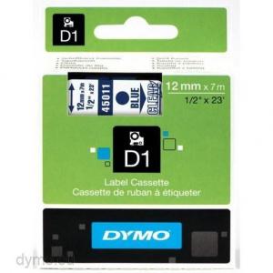 CINTA DYMO TT D1 45011 TRANSP/AZUL 12MMX7M POLIE 1