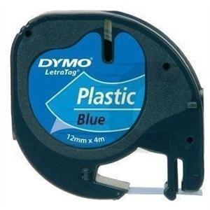 CINTA DYMO 91204 12MMX4M PLASTICO AZUL LETRAGRAF 1