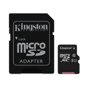 MEMORIA MICRO SD 128GB KINGSTON CLASE 10 UHS-I 80R 1