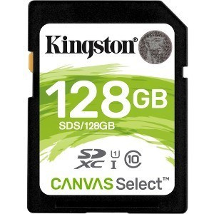 MEMORIA SECURE DIGITAL 128GB KINGSTON CANVAS SELEC 1