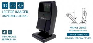 LECTOR IMAGER SEYPOS OMNI-CODE 2D USB NEGRO 1