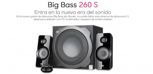 ALTAVOZ WOXTER BIG BASS 260 S 1