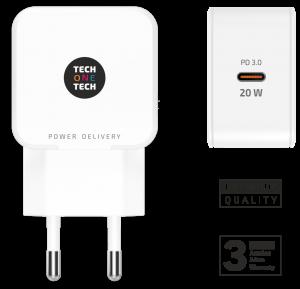 CARGADOR T1T PD 3.0 5V-15V 20W  USB-C 1