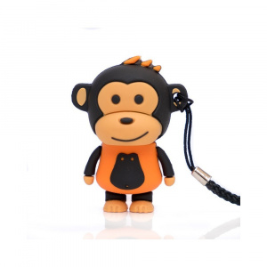 PEN DRIVE FIG.16GB MAKAKO MONO NARANJA 1