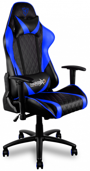 SILLA GAMER PRO THUNDERX3 TGC15BB COLOR NEGRA AZUL 1