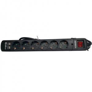 REGLETA PROTEGIDA RIELLO THUNDER 6002 6 TOMAS+USB 1