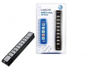 HUB USB MICROCONECT 10 PUERTOS NEGRO 1