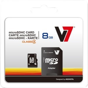 MEMORIA MICRO SD 8GB V7 CLASE 4 4 MB/S 1