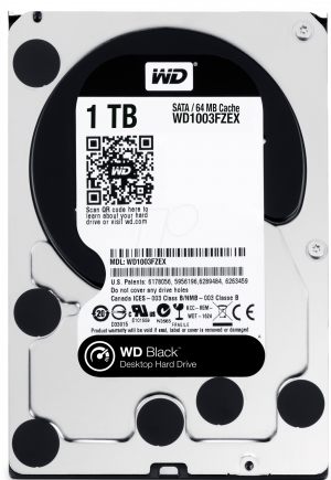 "DISCO DURO 3.5"" WESTERN DIGITAL 1TB  SATA3 7200RPM BLACK 1"