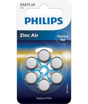 PILAS PHILIPS AUDIFONOS ZINC AIRE ZA675/PR44 PACK6 1
